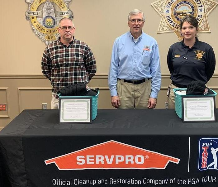 Why SERVPRO Recognition to local First Responders in Shawnee County